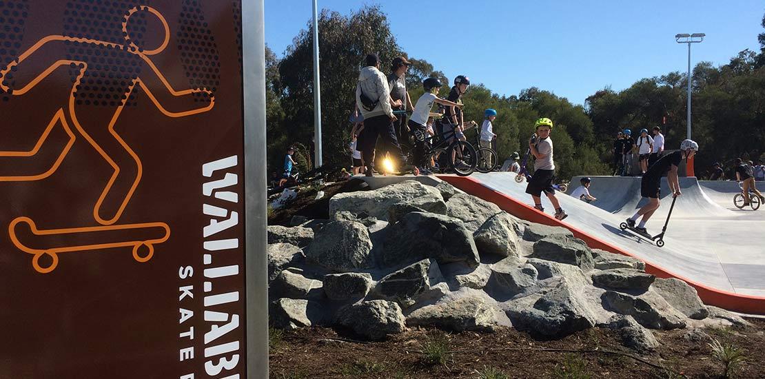 Ecoscape Walliabup Skate Park Landscape Design City of Cockburn Perth WA Entrance Sign